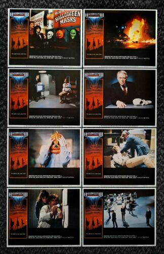 HALLOWEEN III SEASON OF THE WITCH 1982 COMPLETE SET (8) DELUXE LOBBY CARDS *RARE