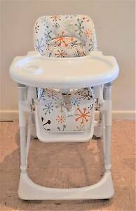Convertible high chair – multiple height and recline positions Ivanhoe East Banyule Area Preview