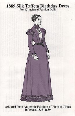 """1889 Taffeta BD Dress Pattern 15"""" Fashion Gene Alex Fashion Doll"""
