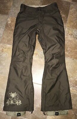 quicksilver women's brown snowboard pants size X-SMALL