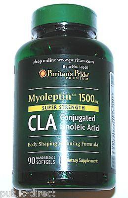 Myoleptin 1500mg Super Strenth CLA Lean Body Toning Weightloss Diet 90 Softgels