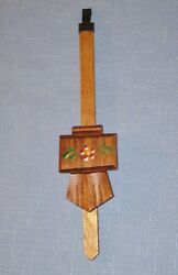 Cuckoo Clock Pendulum for Chalet Style One-Day Cuckoo Clocks - NEW