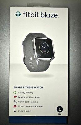 Fitbit Blaze Smart Fitness Watch Black Large Us Version New