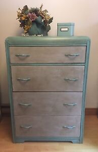 Solid Wood Chalk Painted Dresser