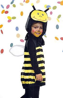 Baby-Kostüm Biene Bienchen Gr. 116-128 Plüsch super weich gelb/schwarz NEU