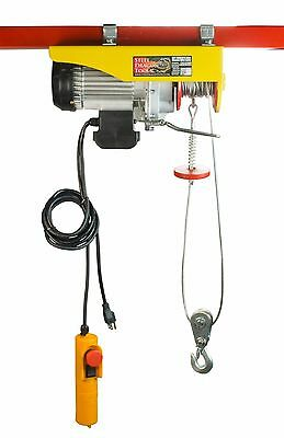 SDT 1320 LBS Electric Wire Cable Hoist Remote Garage Shop Overhead Crane Lift