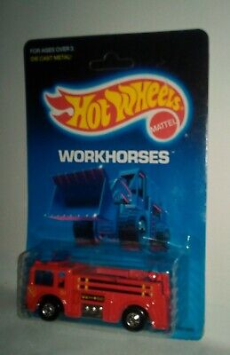 Hot Wheels Workhorses Fire-Eater Red Blackwalls #9640 1986