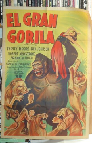 SCI FI/MIGHTY JOE YOUNG/TERRY MOORE/U19/ORIGINAL argentina poster