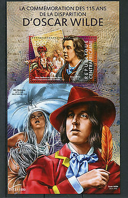Central African Republic 2015 MNH Oscar Wilde 115th Anniv Death 1v S/S