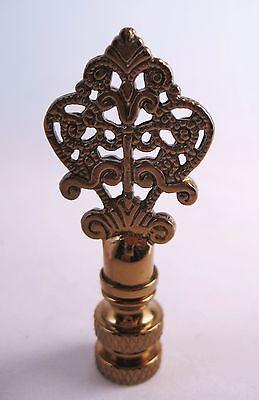 LAMP FINIAL Fancy Antiqued Brass Filigree Arrow -