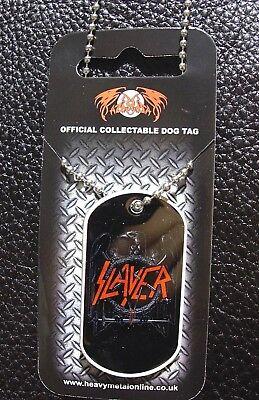 SLAYER  ( eagle logo ) OFFICIAL  Dog Tag & Chain
