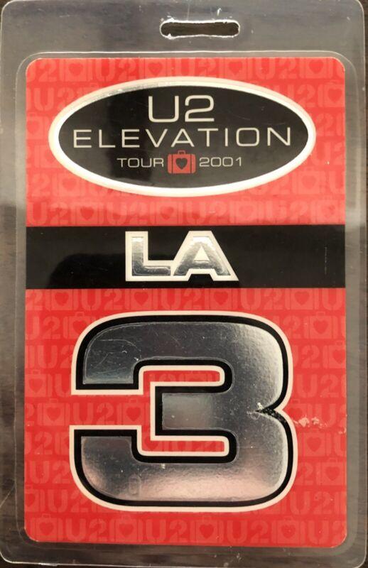 U2 2001 Elevation Tour Laminate Backstage Pass Los Angeles Staples Center