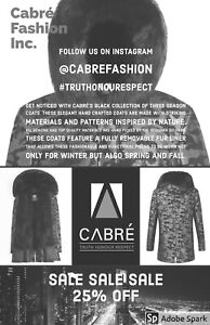 Leather And Fur Coat Men's And Woman Sizes Available.