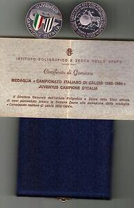 JUVENTUS-CAMPIONE-D-039-ITALIA-1983-84-MEDAGLIA-ZECCA-ARGENTO-E-SMALTI