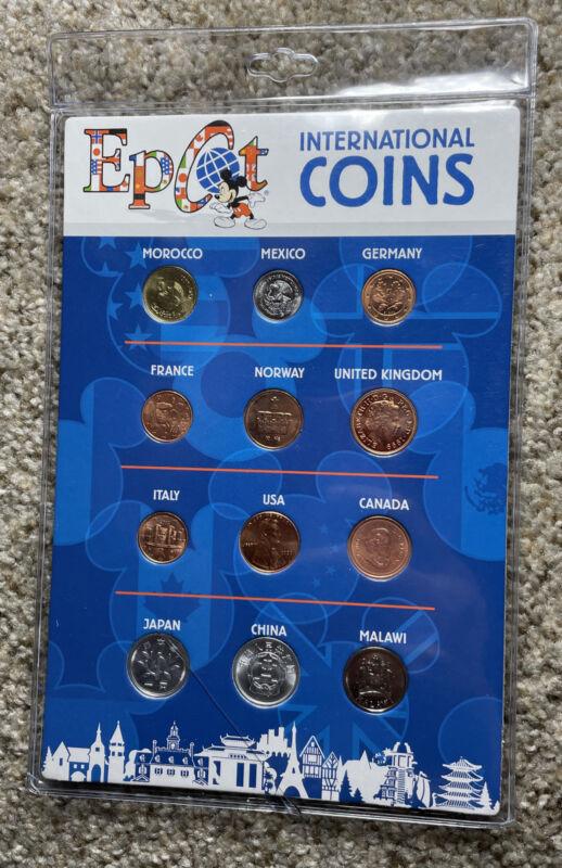 Epcot International Coins 12 Coin Set