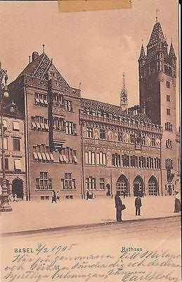 AK Basel 1905 Rathaus