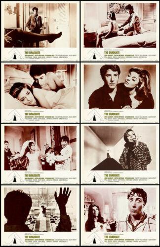 THE GRADUATE DUSTIN HOFFMAN ANN BANCROFT Set Of 8 Indiv 11x14 LC Prints 1968