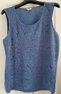 Falmer Heritage Womens Size UK 20  Cotton Pale Blue Vest Top Soft Stretch