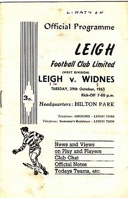 Leigh v Widnes 1963/4 (29 Oct)