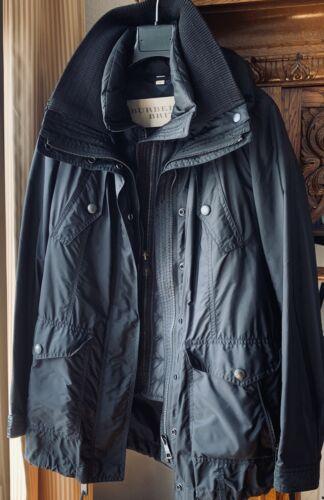 Burberry Doppel-Jacke Damen Gr. M/ Schwarz Regenjacke mit Kapuze und Daunenjacke