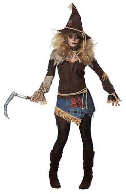 California Costumes Creepy Scarecrow Women Adult Costume Cosplay Party 01439 - Adult Scarecrow Costume