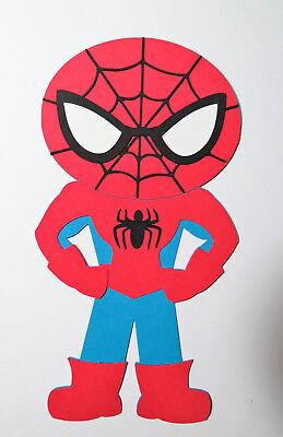 Super Hero Spiderman Paper Doll Paper Die Cut Scrapbook Embellishment (Superhero Scrapbook Paper)