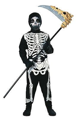 Skeleton Halloween Costume Child (Child Skeleton Costume Bones Spooky Halloween Kids Size Large)
