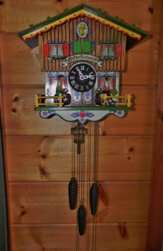 Chalet Hofbrauhaus 1 Day Cuckoo Clock - West Germany - Works!!