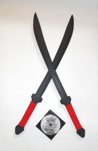 Practice Polypropylene Swords Thai Krabi Krabong Red Training Instruction DVD