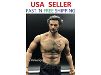 Custom 1//6 scale Logan Wolverine WORLDBOX muscular COMPLETE Full figure set