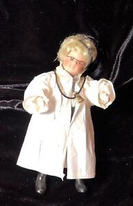 One of a Kind porcelain Doll with lab coat