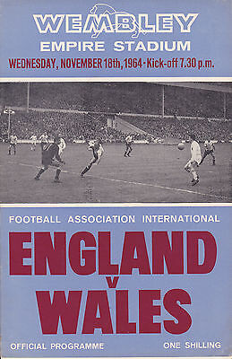 ENGLAND v WALES 64-65 AT WEMBLEY STADIUM