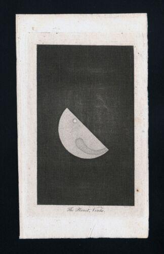 1809 Astronomy Print Planet Venus Solar System Telescope Celestial Antique