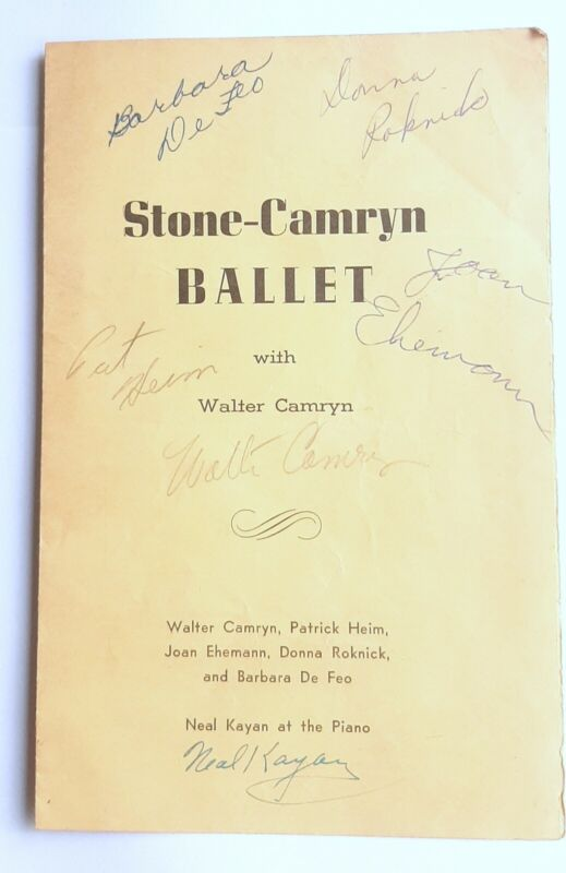 Stone-Camryn Ballet Program Autographed-in-Person Walter Camryn Joan Ehemann
