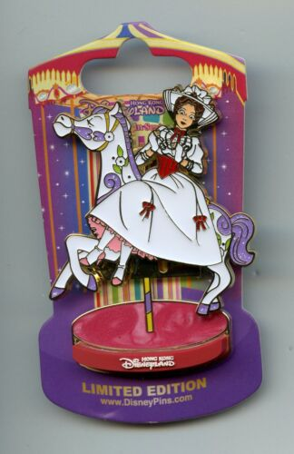 HKDL Disney Mary Poppins Jolly Holiday Riding Carousel Horse Slider LE 300 Pin