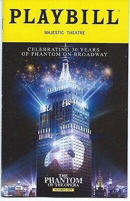 PHANTOM OF THE OPERA Playbill 30th ANNIVERSARY One Night Only Andrew Lloyd Weber