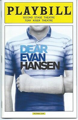 DEAR EVAN HANSEN Playbill off-Broadway BEN PLATT Rachel Bay Jones Michael Greif