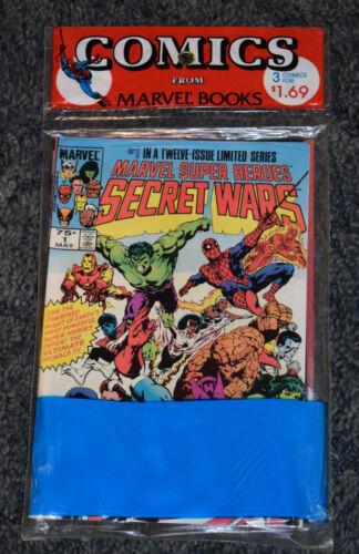 MARVEL COMICS SECRET WARS 1-3 IN THE ORIGINAL PLASTIC PACKAGING UNOPENED 1984