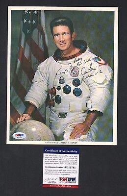 Vintage 1960s James B. Irwin NASA Issued Astronaut Signed Photo Print PSA