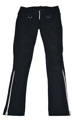 SHRINE PUNKER GOTHIC MOTO BLACK GOTH STEAMPUNK PUNK JEANS ZOMBIE ROCKER PANTS Clothing, Shoes & Accessories