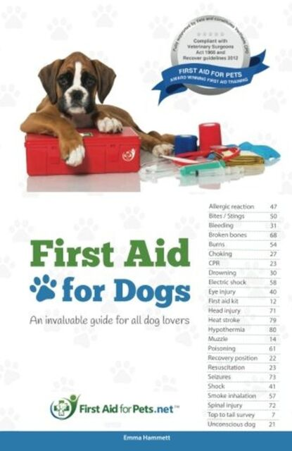 First Aid for Dogs: An invaluable guide for all dog lovers NEW BOOK