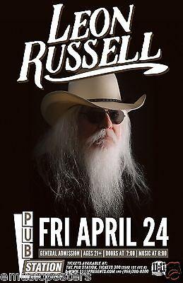 LEON RUSSELL 2015 MONTANA CONCERT TOUR POSTER- Country,Rock,Folk,R&B,Blues Rock