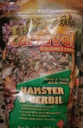 Tropical Carnival F.M. Brown s Gourmet Hamster Gerbil Food Free Shipping - $15.00