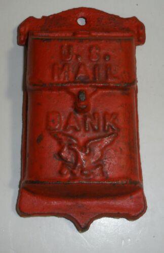 Vintage U.S. Mail Bank Iron Still bank