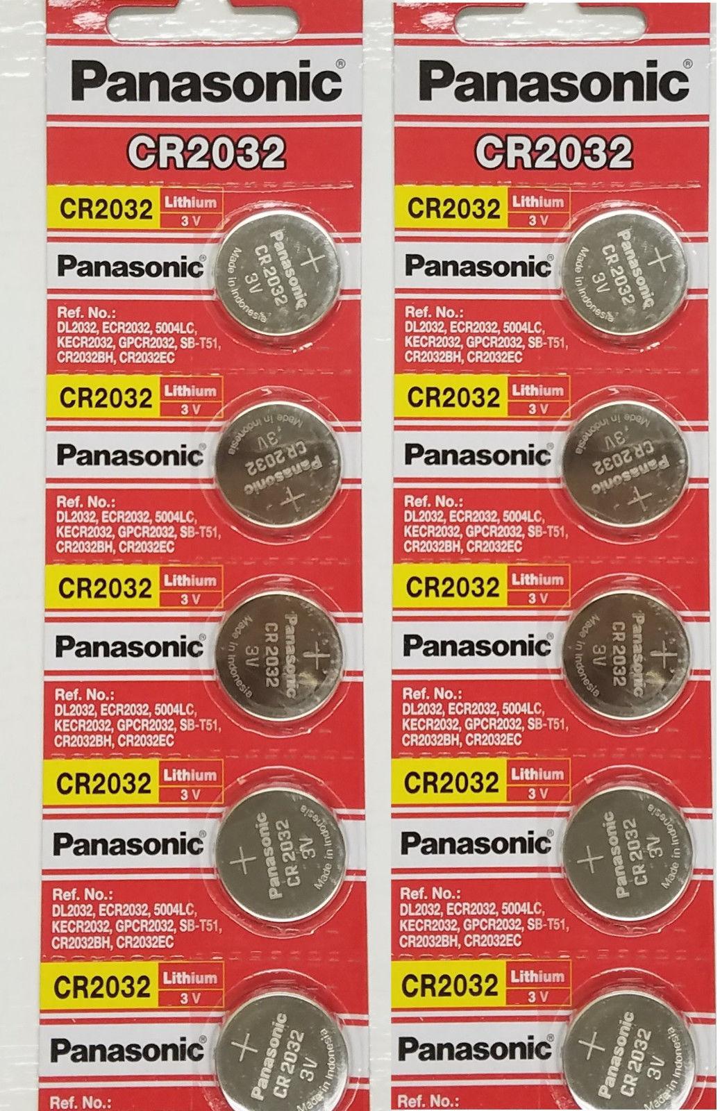 10 x SUPER FRESH Panasonic ECR2032 CR2032 Lithium Battery 3V Coin Cell Exp. 2030 Consumer Electronics