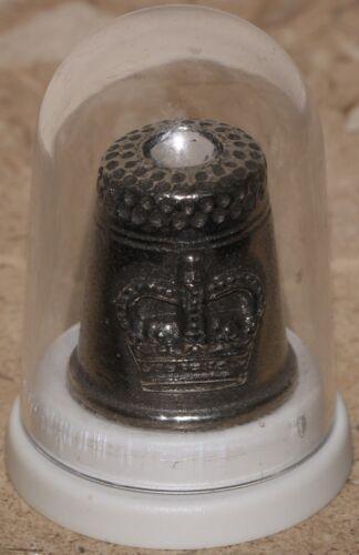 Rowena Souvenirs Diamond Jubilee Pewter Thimble | KM Coins