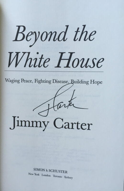 Jimmy Carter Signed Book titled Beyond The White House