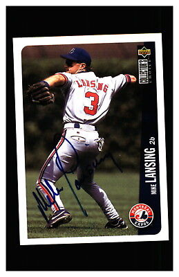 Mike Lansing Autograph Signed 1996 Upper Deck Collectors Choice Expos