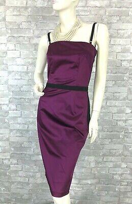 Dolce & Gabbana New Tag Purple Black Stretch Cocktail Dress 6 US 42 IT M Runway