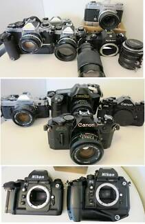 Canon & Nikon Film Cameras Lenses for 4/3 micro,Sony A & Nex South Yarra Stonnington Area Preview